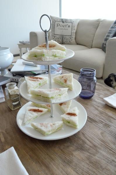 Sandwiches de pepino para el te